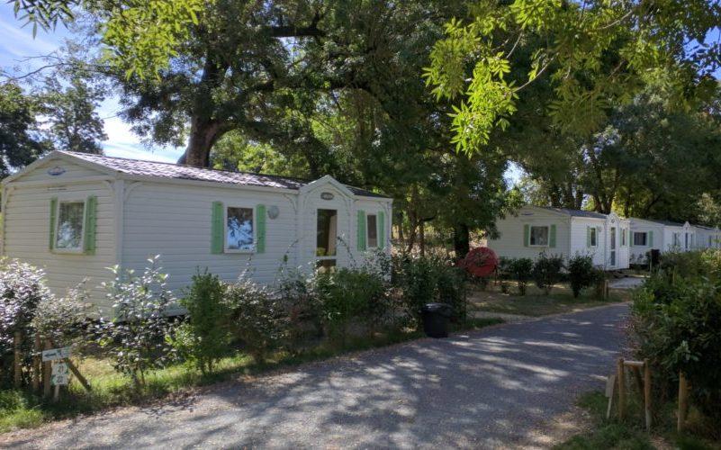 location mobil home ou bungalow dans camping avec piscine proche de Meschers